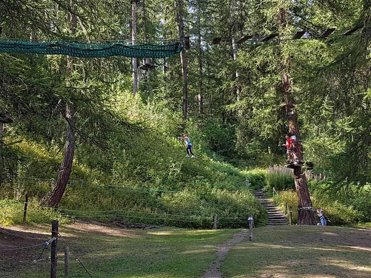 """""""Forêt sensations"""" vous propose des activités en extérieur tel que de l'acrobranche"""