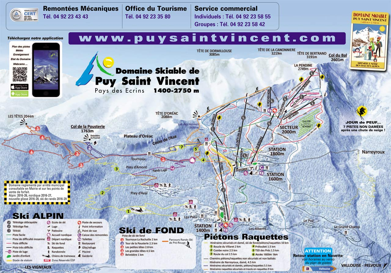 Offices de tourisme informations et plans stations puy saint vincent - Office tourisme puy st vincent ...