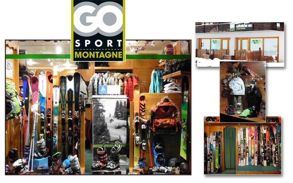 Magasin de location de Ski GoSport au Puy Saint Vincent